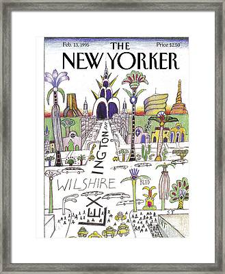 The New Yorker Cover - February 13th, 1995 Framed Print