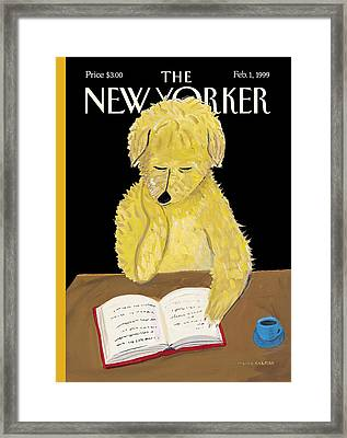 The New Yorker Cover - February 1st, 1999 Framed Print