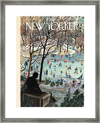 The New Yorker Cover - February 4th, 1961 Framed Print