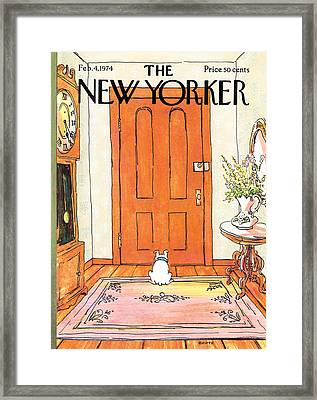 The New Yorker Cover - February 4th, 1974 Framed Print