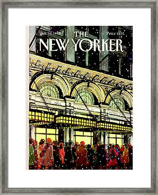 The New Yorker Cover - January 18th, 1988 Framed Print by Roxie Munro