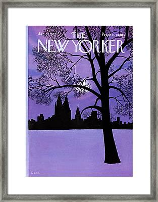 The New Yorker Cover - January 22nd, 1972 Framed Print by Charles E Martin