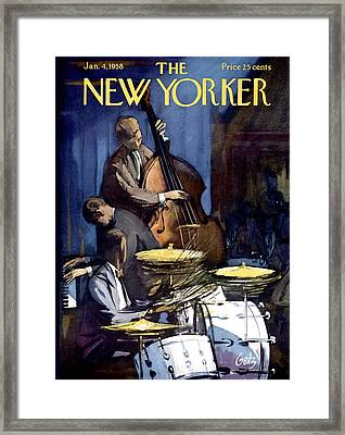 The New Yorker Cover - January 4th, 1958 Framed Print by Arthur Getz