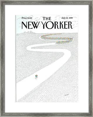 The New Yorker Cover - July 12th, 1999 Framed Print