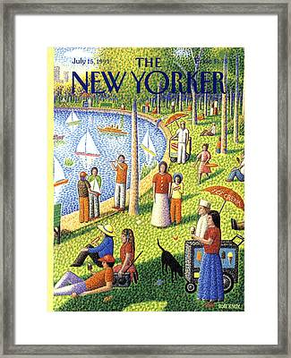 The New Yorker Cover - July 15th, 1991 Framed Print by Bob Knox