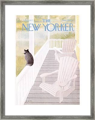 The New Yorker Cover - July 18th, 1977 Framed Print by Charles E Martin