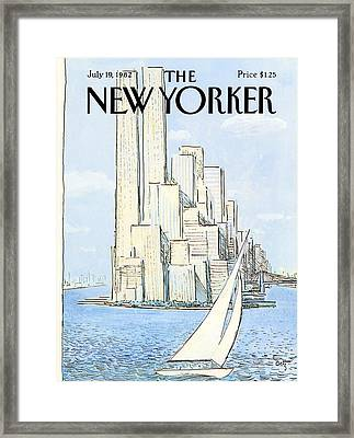 The New Yorker Cover - July 19th, 1982 Framed Print