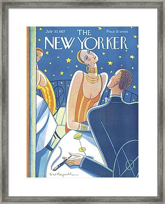 The New Yorker Cover - July 23rd, 1927 Framed Print by Stanley W Reynolds