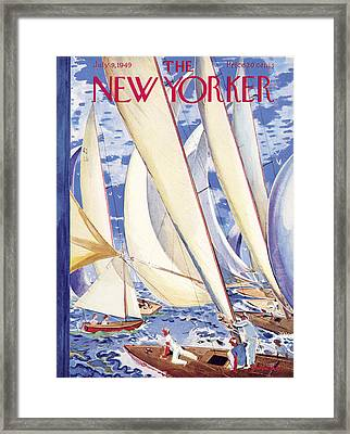 The New Yorker Cover - July 9, 1949 Framed Print