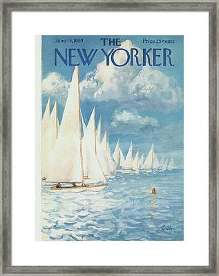 The New Yorker Cover - June 13th, 1959 Framed Print by Arthur Getz