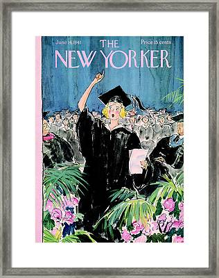 The New Yorker Cover - June 14th, 1941 Framed Print by Conde Nast