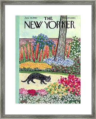 The New Yorker Cover - June 18th, 1960 Framed Print by William Steig