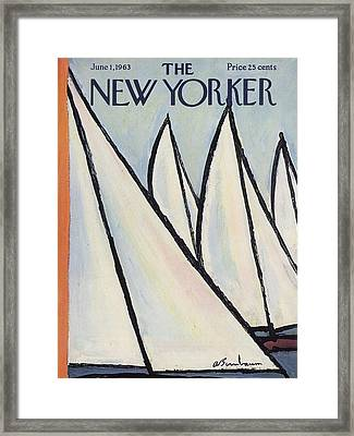 The New Yorker Cover - June 1st, 1963 Framed Print