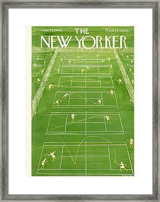 The New Yorker Cover - June 25th, 1960 Framed Print by Anatol Kovarsky