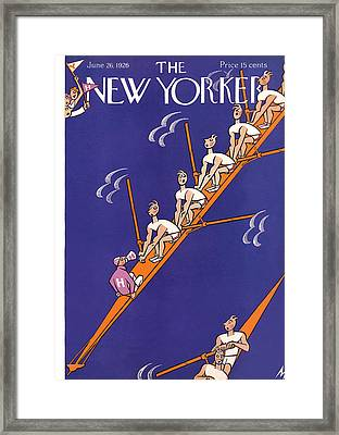 The New Yorker Cover - June 26th, 1926 Framed Print by Julian de Miskey