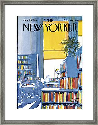 The New Yorker Cover - June 29th, 1968 Framed Print by Arthur Getz