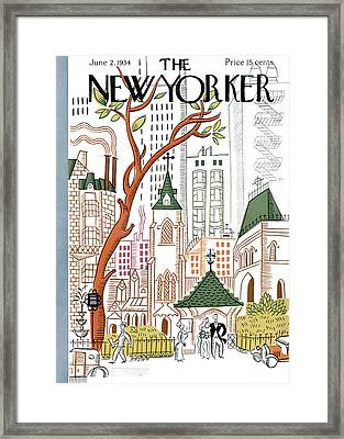 The New Yorker Cover - June 2nd, 1934 Framed Print by Harry Brown