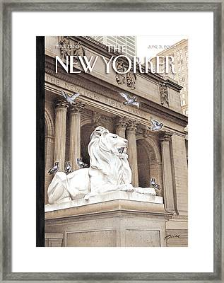 The New Yorker Cover - June 3rd, 2002 Framed Print by Harry Bliss