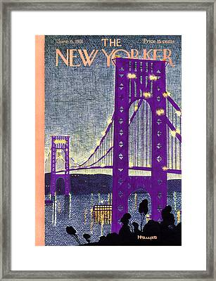 The New Yorker Cover - June 6th, 1931 Framed Print