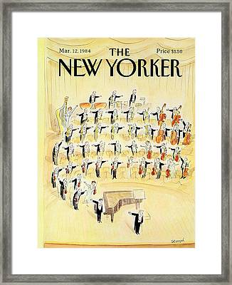 The New Yorker Cover - March 12th, 1984 Framed Print by Jean-Jacques Sempe