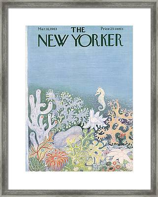 The New Yorker Cover - March 16th, 1963 Framed Print