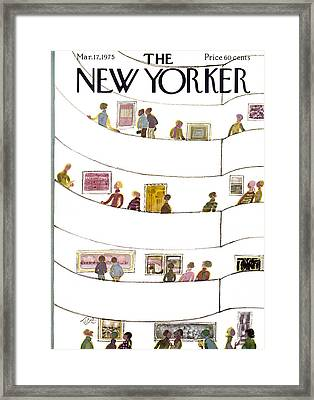 The New Yorker Cover - March 17th, 1975 Framed Print