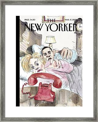 The New Yorker Cover - March 17th, 2008 Framed Print by Barry Blitt