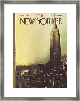 The New Yorker Cover - March 3rd, 1962 Framed Print by Arthur Getz