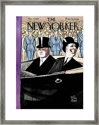 The New Yorker Cover - March 4th, 1933 Framed Print by Peter Arno