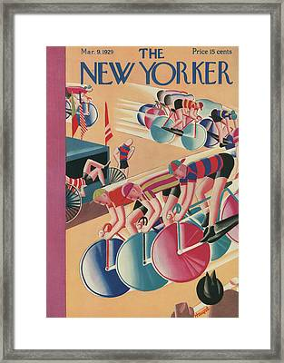 The New Yorker Cover - March 9th, 1929 Framed Print by Theodore G Haupt