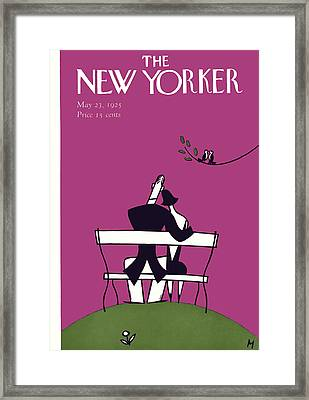 The New Yorker Cover - May 23rd, 1925 Framed Print by Julian de Miskey