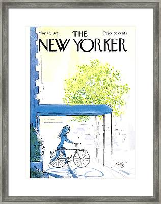 The New Yorker Cover - May 26th, 1973 Framed Print by Arthur Getz