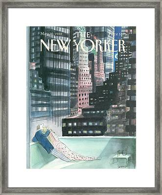 The New Yorker Cover - May 30th, 1988 Framed Print