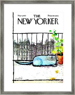 The New Yorker Cover - May 6th, 1972 Framed Print