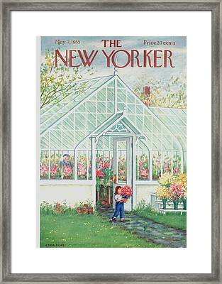 The New Yorker Cover - May 7th, 1955 Framed Print