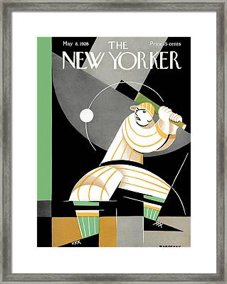 The New Yorker Cover - May 8th, 1926 Framed Print by Conde Nast