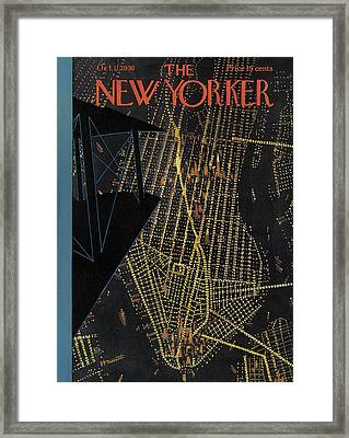 The New Yorker Cover - October 11th, 1930 Framed Print by Theodore G Haupt