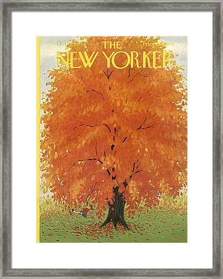 The New Yorker Cover - October 18th, 1952 Framed Print by Conde Nast