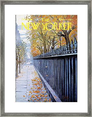 The New Yorker Cover - October 19th, 1968 Framed Print