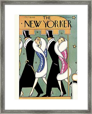The New Yorker Cover - October 30th, 1926 Framed Print
