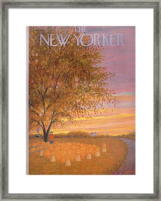 The New Yorker Cover - October 31st, 1953 Framed Print