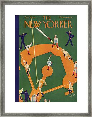 The New Yorker Cover - October 5th, 1929 Framed Print by Theodore G Haupt