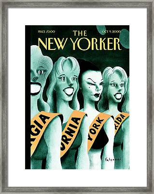 The New Yorker Cover - October 9th, 2000 Framed Print