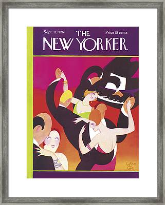 The New Yorker Cover - September 11th, 1926 Framed Print by Conde Nast
