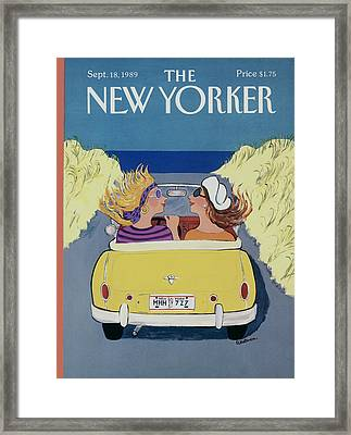 The New Yorker Cover - September 18th, 1989 Framed Print