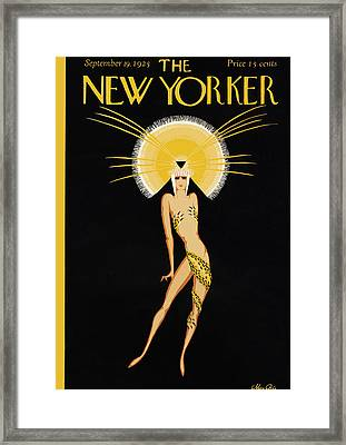 The New Yorker Cover - September 19th, 1925 Framed Print by Conde Nast