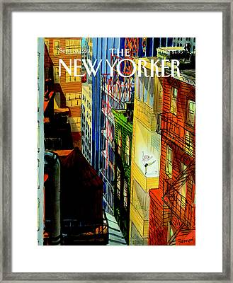 The New Yorker Cover - September 20th, 1993 Framed Print by Jean-Jacques Sempe