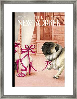 The New Yorker Cover - September 27th, 2004 Framed Print by Ana Juan