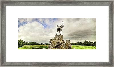The Newfoundland Caribou Above The Trenches Framed Print by Weston Westmoreland
