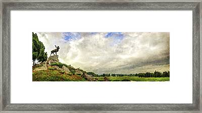 The Newfoundland Caribou And The Trenches - Vintage Version Framed Print by Weston Westmoreland